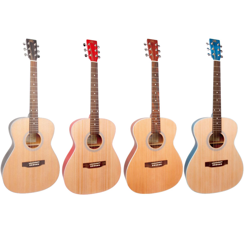 【SX Guitars】大人気のSXアコースティックギターにサイドバックカラーモデルが登場!!!